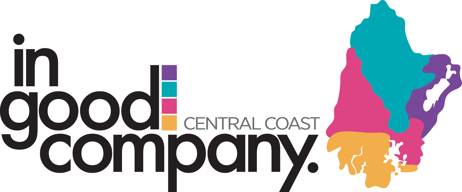 In Good Company Central Coast logo with map